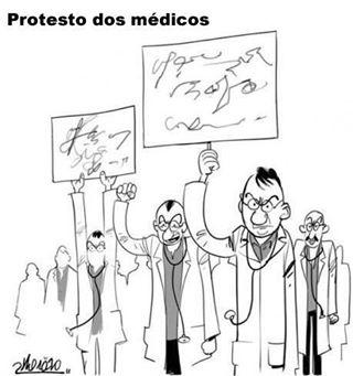 médicos protestam